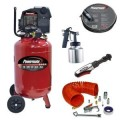 Powermate 10-Gal. Portable Vertical Air Compressor with Accessories