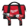 Milwaukee M12 Red Lithium 12-Volt Cordless 2-Tool Combo Kit - Drill Driver/ Impact Driver