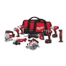 Milwaukee M18 Red Lithium 18-Volt Cordless 9-Tool Combo Kit