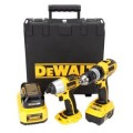 DEWALT 18-Volt XRP Lithium-Ion Compact Hammerdrill / Impact Driver 2-Tool Combo Kit