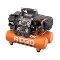 RIDGID Tri-Stack 5-Gal. Portable Electric Steel Orange Air Compressor