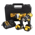 DEWALT 20-Volt Max (1.5 Ah) Lithium Ion Compact Hammerdrill and Impact 2-Tool Combo Kit