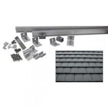 6,000-Watt Direct Mount Racking System -Flat Slate Tile