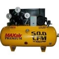 Maxair Premium Industrial 10 HP Electric Single Phase Single Stage 120-Gal. Horizontal Air Compressor
