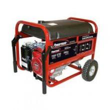 Powermate 7,000 Watt Gasoline Powered Manual Start Portable Generator With  Honda Engine