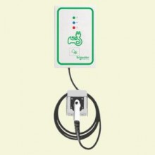 Schneider Electric EVlink 30 Amp Level 2 Outdoor Wall Mount Electric Vehicle Charging Station with RFID Access