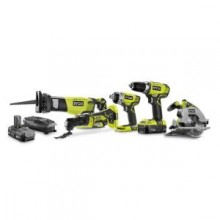 Ryobi 18-Volt One+ 5-Piece Lithium-ion Combo Kit