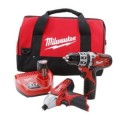 Milwaukee M12 Red Lithium 12-Volt Cordless 2-Tool Combo Kit - Hammer Drill/ Impact Driver
