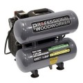 Professional Woodworker 4-Gal. Pro Duty Twin Stack Oil Lube Air Compressor