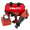 Hilti 18-Volt 2 Tool Cordless Combo SFH and WSR 18-A