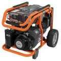 RIDGID 6,800-Watt Yamaha 357 cc Electric Start Idle Down Gasoline Powered Portable Generator