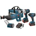 Bosch 18-Volt 4-Tool Lithium Ion Combo Kit