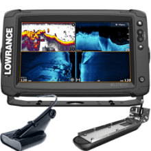 Lowrance Elite-9 Ti2 Inland with Active Imaging 2-in-1, Mid/High Skimmer & Y Cable