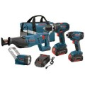 Bosch 18-Volt Lithium-Ion 4-Tool Combo Kit